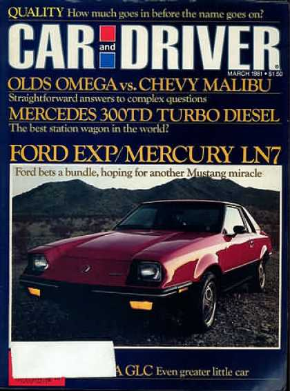 Car and Driver - March 1981
