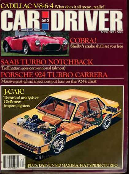 Car and Driver - April 1981