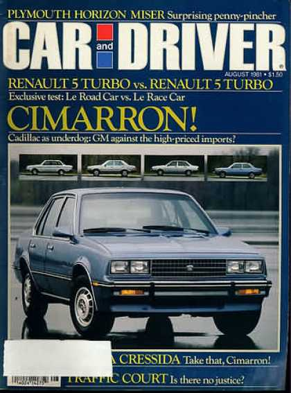 Car and Driver - August 1981