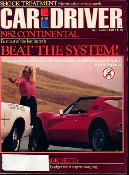 Car and Driver - September 1981