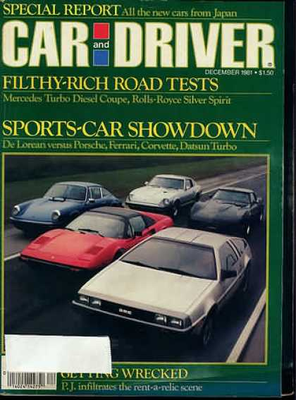 Car and Driver - December 1981