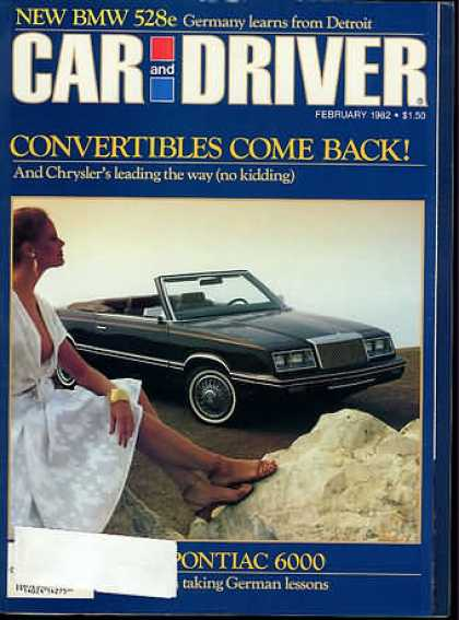 Car and Driver - February 1982