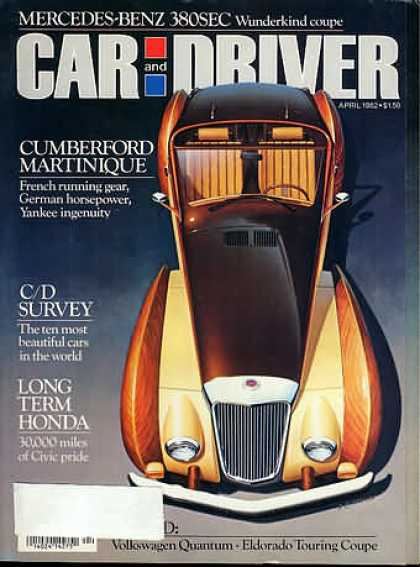 Car and Driver - April 1982