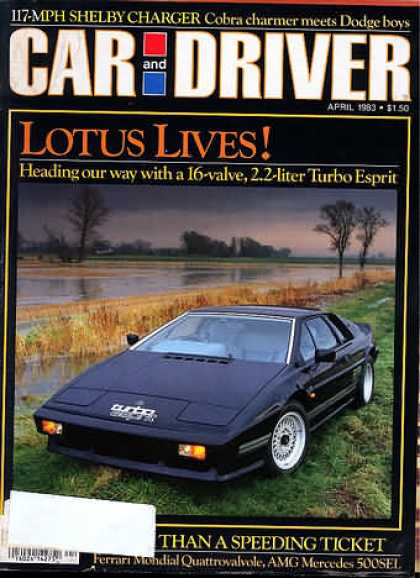 Car and Driver - April 1983