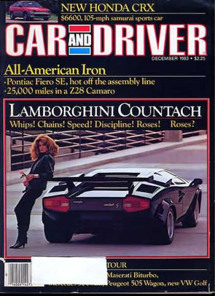 Car and Driver - December 1983
