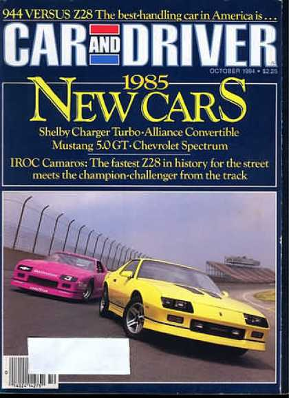 Car and Driver - October 1984
