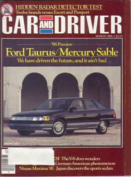 Car and Driver - March 1985