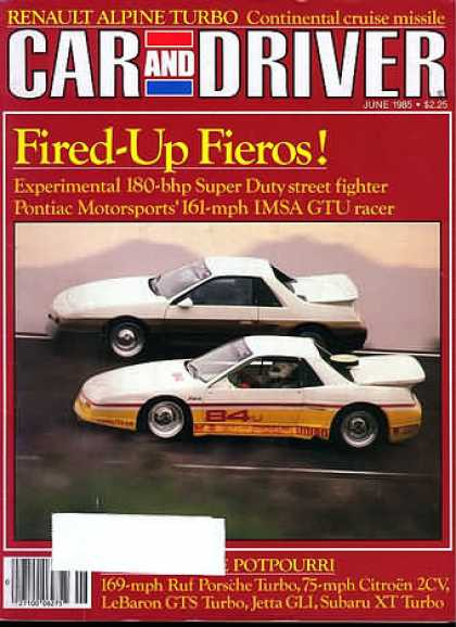 Car and Driver - June 1985