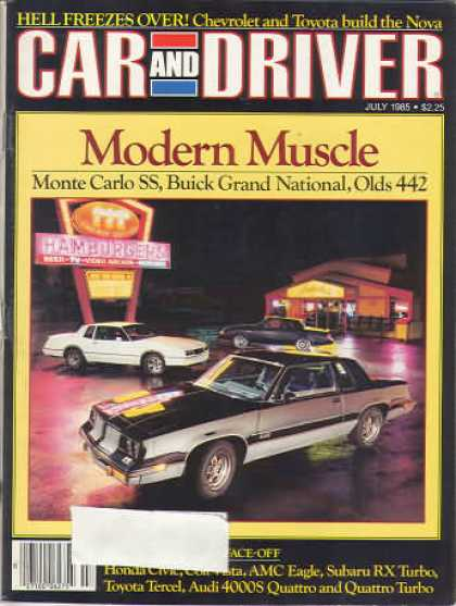 Car and Driver - July 1985