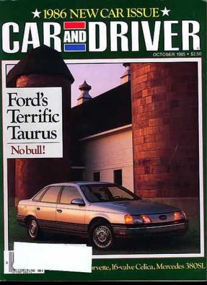 Car and Driver - October 1985