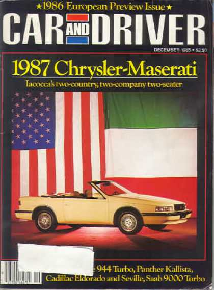Car and Driver - December 1985