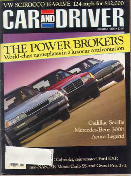 Car and Driver - August 1986