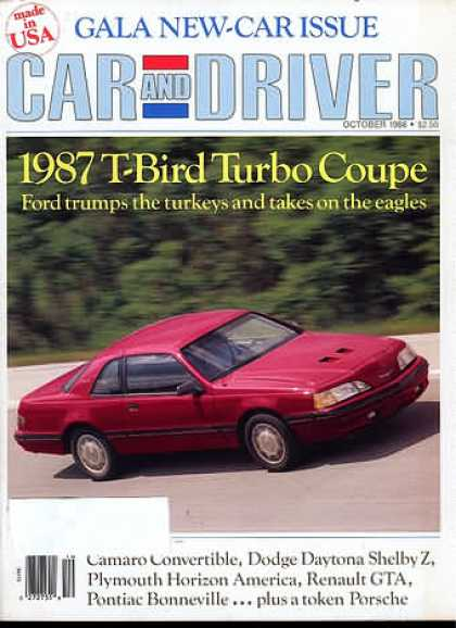 Car and Driver - October 1986