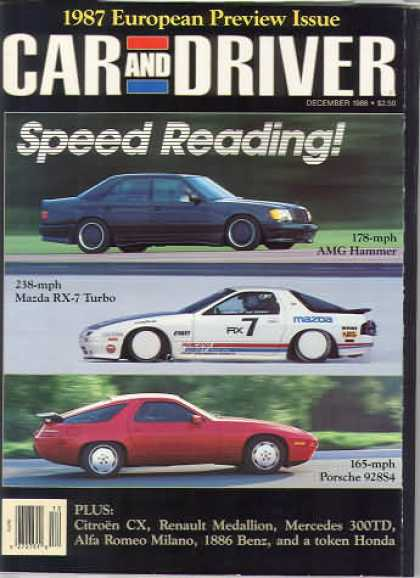 Car and Driver - December 1986