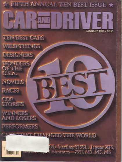 Car and Driver - January 1987
