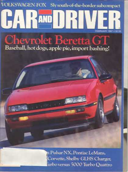 Car and Driver - February 1987