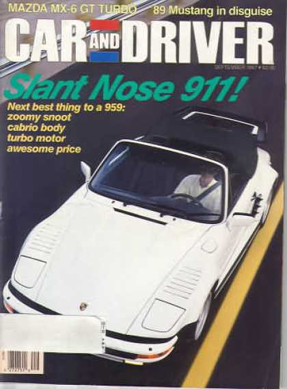 Car and Driver - September 1987