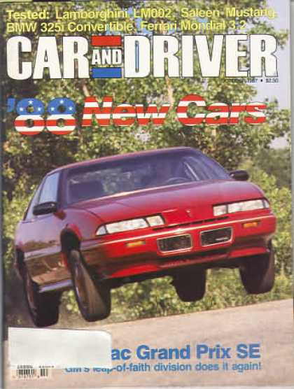 Car and Driver - October 1987