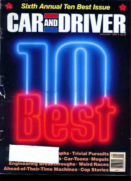 Car and Driver - January 1988
