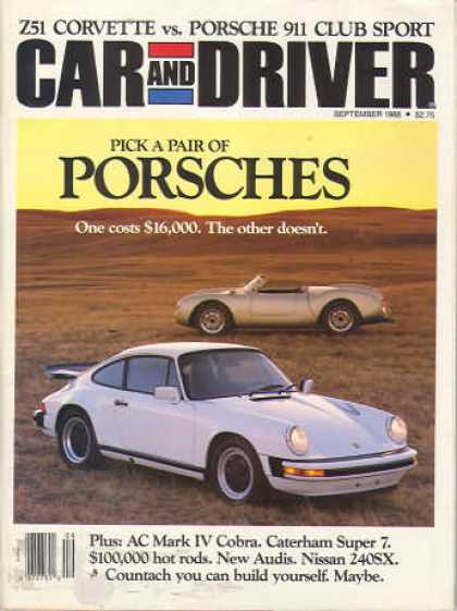 Car and Driver - September 1988