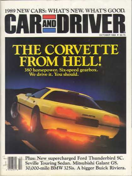 Car and Driver - October 1988