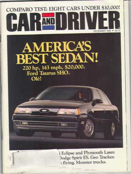 Car and Driver - December 1988