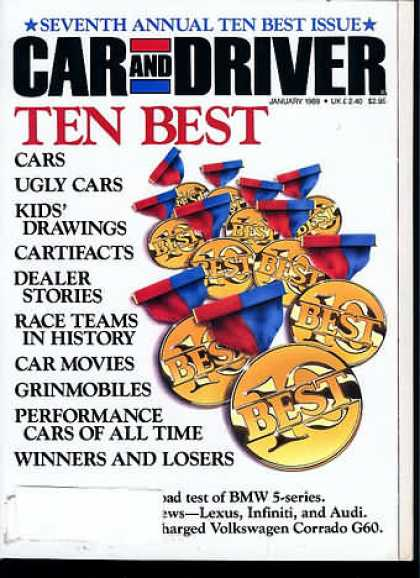 Car and Driver - January 1989