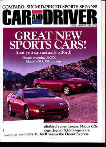 Car and Driver - March 1989