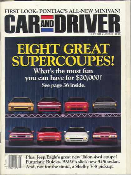 Car and Driver - July 1989