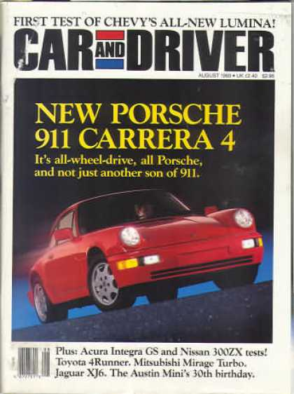 Car and Driver - August 1989