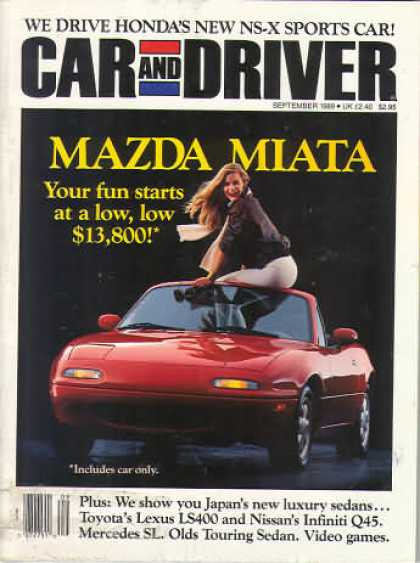 Car and Driver - September 1989