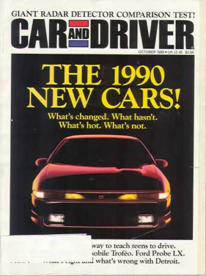 Car and Driver - October 1989