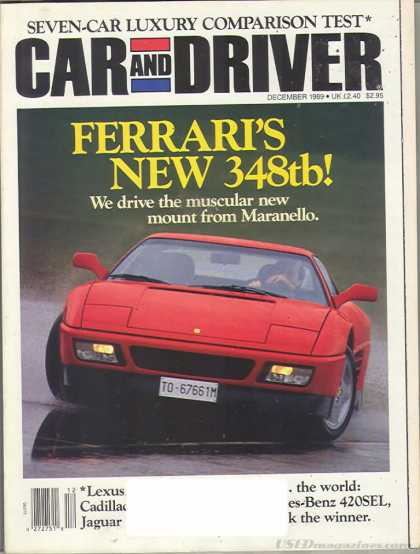 Car and Driver - December 1989
