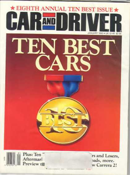 Car and Driver - January 1990