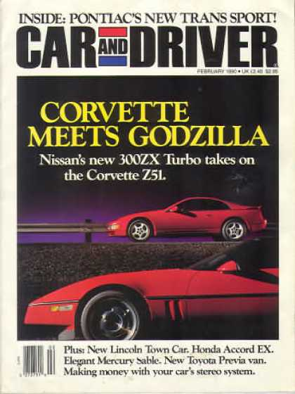 Car and Driver - February 1990