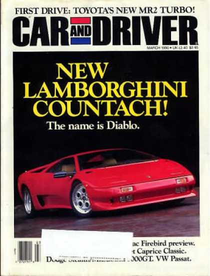 Car and Driver - March 1990
