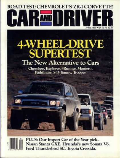 Car and Driver - April 1990