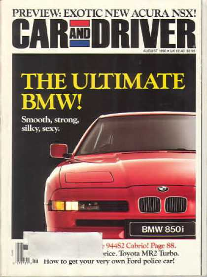 Car and Driver - August 1990