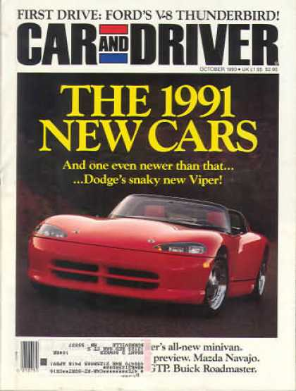 Car and Driver - October 1990