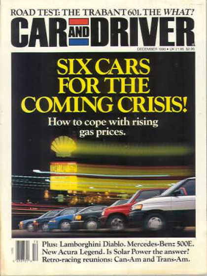 Car and Driver - December 1990