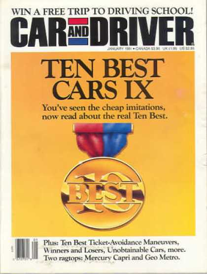 Car and Driver - January 1991