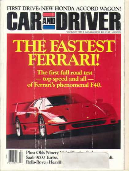 Car and Driver - February 1991