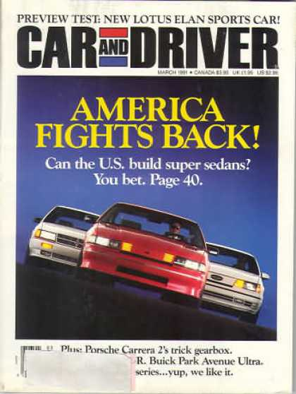 Car and Driver - March 1991