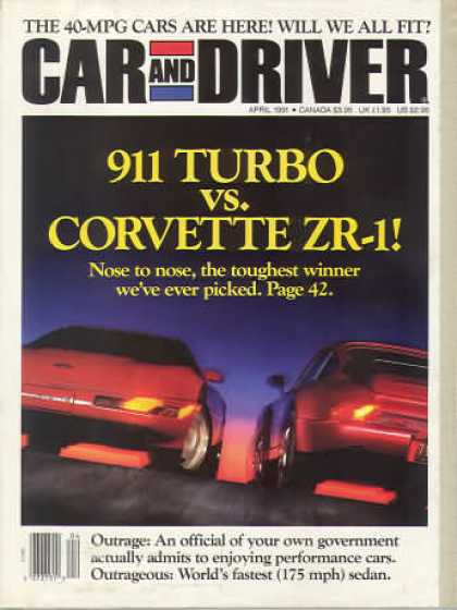 Car and Driver - April 1991