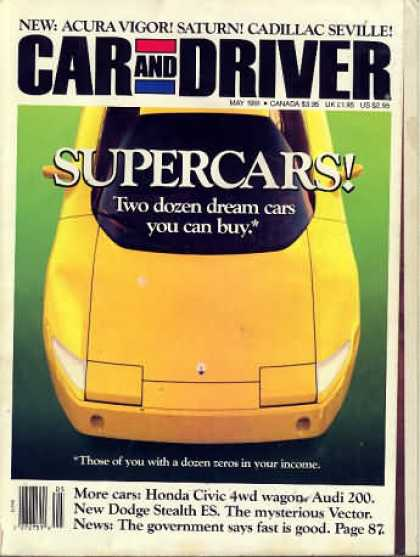 Car and Driver - May 1991