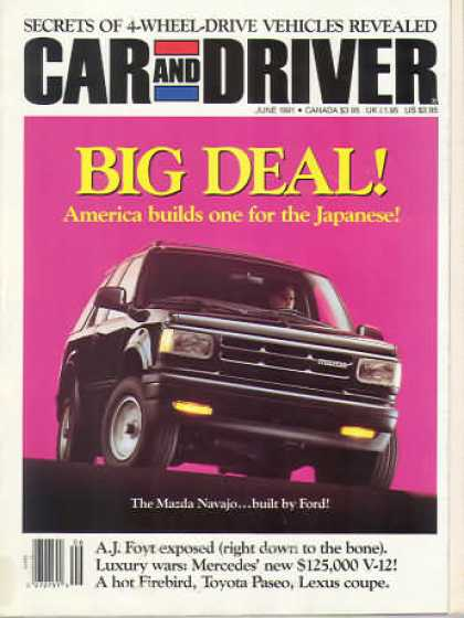 Car and Driver - June 1991