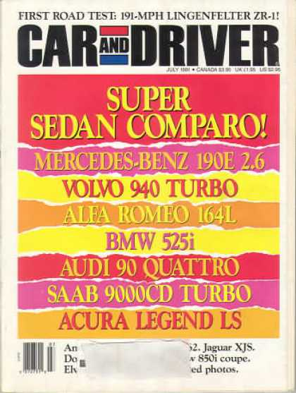 Car and Driver - July 1991
