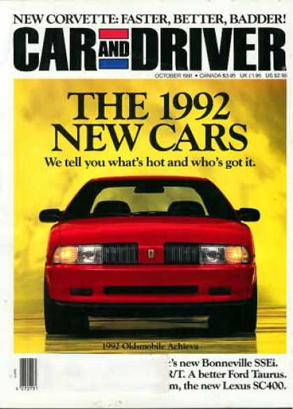 Car and Driver - October 1991