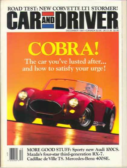 Car and Driver - December 1991