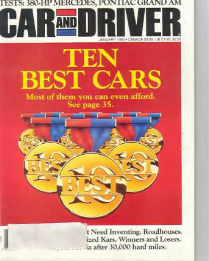 Car and Driver - January 1992